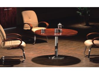 Executive Round Meeting Room Table Medium Oak DES-MET-1861-R-B03