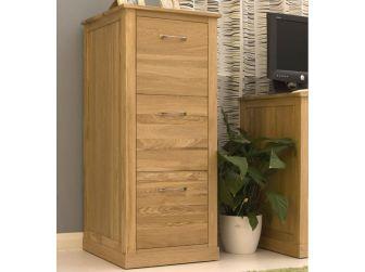 Oak Three Drawer Filing Cabinet COR07D