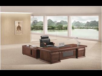 Large Executive Dark Walnut Office Desk - 7H241K