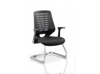 Dynamic Relay Airmesh Seat Cantilever Visitor Chair