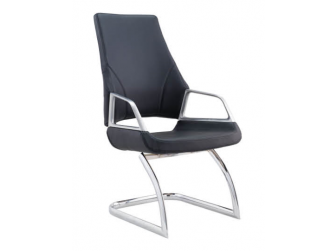 Black Leather Executive Visitors Chair - 1319C