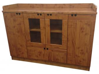 Executive Yew Credenza 4 Door + 1 Drawer Office Cupboard - K11
