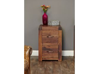 Walnut Two Drawer Filing Cabinet CDR07A