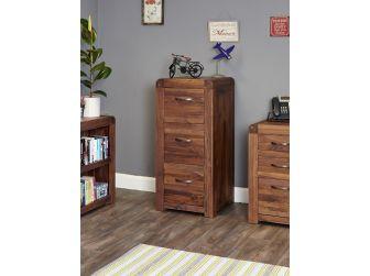 Walnut Three Drawer Filing Cabinet CDR07B