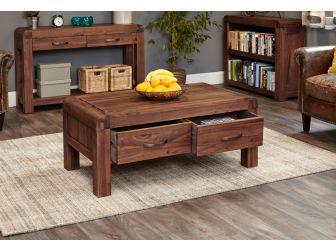Walnut Four Drawer Coffee Table CDR08C