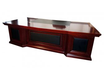 Solid wood veneer Curved Executive Office Furniture Desk EMP800-3000/3200/3600mm-Wood Colour options available