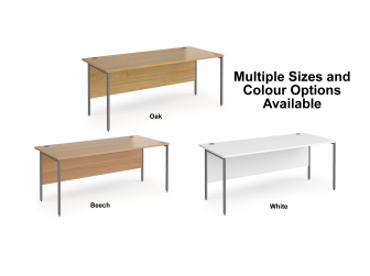 Contract H Frame Straight Office Desk