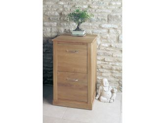 Oak Two Drawer Filing Cabinet COR07A