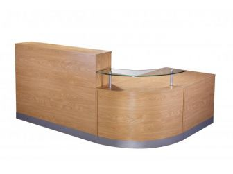 Reception Desk Counter - Crown Cut Oak