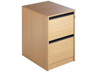 2 Drawer Wood Filing Cabinet OF2