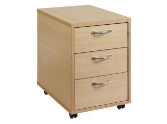 3 Drawer Mobile Desk Pedestal R3M