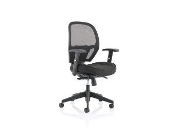 Dynamic Denver Black Mesh Office Chair