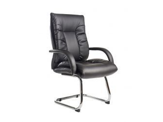 Derby High Back Leather Visitor Chair