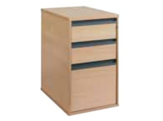 Deep 3 Drawer Mobile Desk End Pedestal 74-DP3