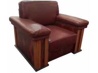 1 Seat Leather Hide Executive Sofa with Italian Design - S007-R-1