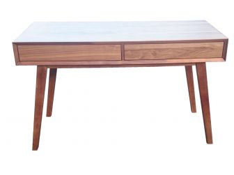 Walnut Writing Desk Real Wood Veneer Retro Design LVO-8005-1480mm
