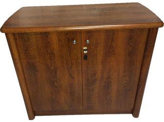 Medium Oak  2 door office cupboard 6846T-32-2DR