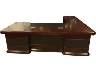 2.8m Executive Corner Desk Mahogany HB278M