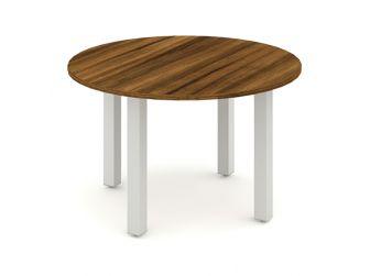 IMPULSE 1200 - Round Meeting Table in Walnut