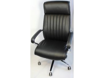 Genuine Hide Black Leather Executive Office Chair - CHA-03A