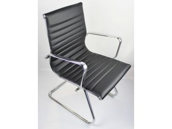 Black Leather Executive Visitor Chair - HB-E13