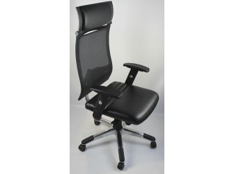 High Quality Mesh & Leather Office Chair - CHA-4830A