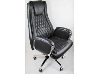 Black Leather Executive Office Chair - CHA-1202A