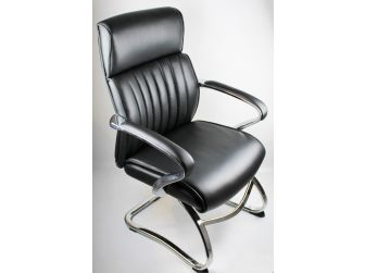Black Leather Executive Visitors Chair - CHA-03C