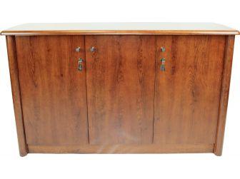 Medium Oak 1861-3DR-2 finish 3 door office cupboard