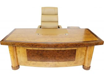 Executive Desk In 2 Tone Yew Finish HSN-1862 -1.6m 1.8m 2m & 2.2m Wide