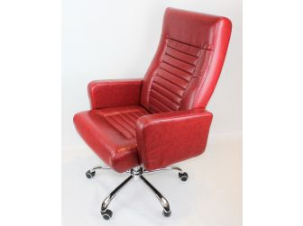 Modern Red Leather Executive Office Chair - DH-009