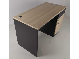 Small Light Beech Office Desk with Built-in Storage - HS005-2