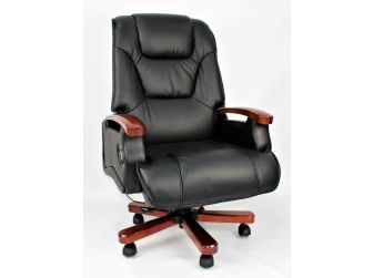 Luxury Black Leather Executive Office Chair CHA-HB-A302 Clearance!