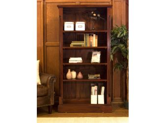 Solid Mahogany Tall Open Bookcase IMR01A