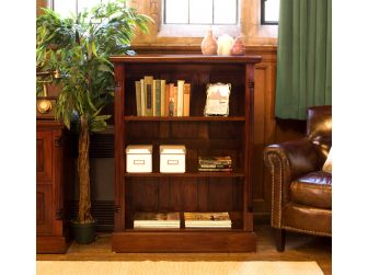 Solid Mahogany Low Open Bookcase IMR01B