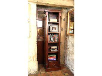 Solid Mahogany Alcove Open Bookcase IMR01C