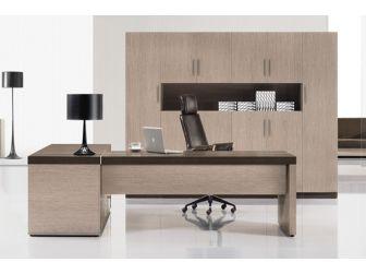 CLEARANCE Large Executive Corner Desk In Light and Chocolate Oak veneer JRC282-2800mm