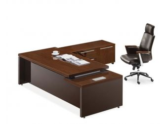 Walnut and Chocolate colour high gloss sides and front Modern Executive Desk Set JRE241-2400mm