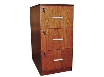 Senato DES-3D-FIL-LWNT Light Walnut Filing Cabinet