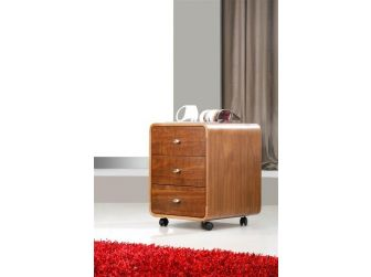 3 Drawer Pedestal In Walnut Finish PC201-3DRW-W