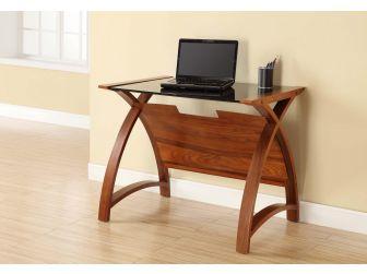 Compact Glass Office Desk Laptop Table PC201-LT-900-WB