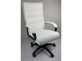Soft Padded Executive Office Chair in White - CHA-K35