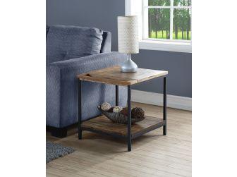 Vintage Rustic Solid Oak Veneer Lamp Table - SW303