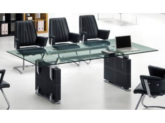 Large Executive Glass Meeting Table - F-22