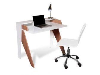 Alphason Avila Computer Desk Sapele Melamine & White Gloss