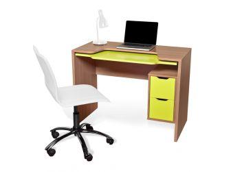 Alphason Segovia Computer Desk Sepele & Lime Green