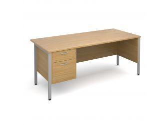 Side Panel Desk With Two Drawer Pedestal HMP2