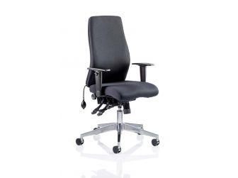 Dynamic Onyx Black Fabric Executive Office Chair