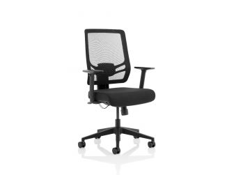 Dynamic Ergo Twist Black Fabric Seat and Mesh Back Office Chair