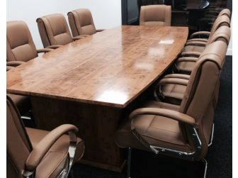Executive Boardroom Meeting Room Table Yew Finish DES-MET-517-34-3.0
